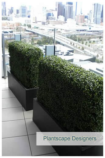 Outdoor artificial hedge installation
